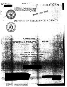 "Defense Intelligence Agency report, ""Controlled Offensive Behavior: USSR"" (1972)"